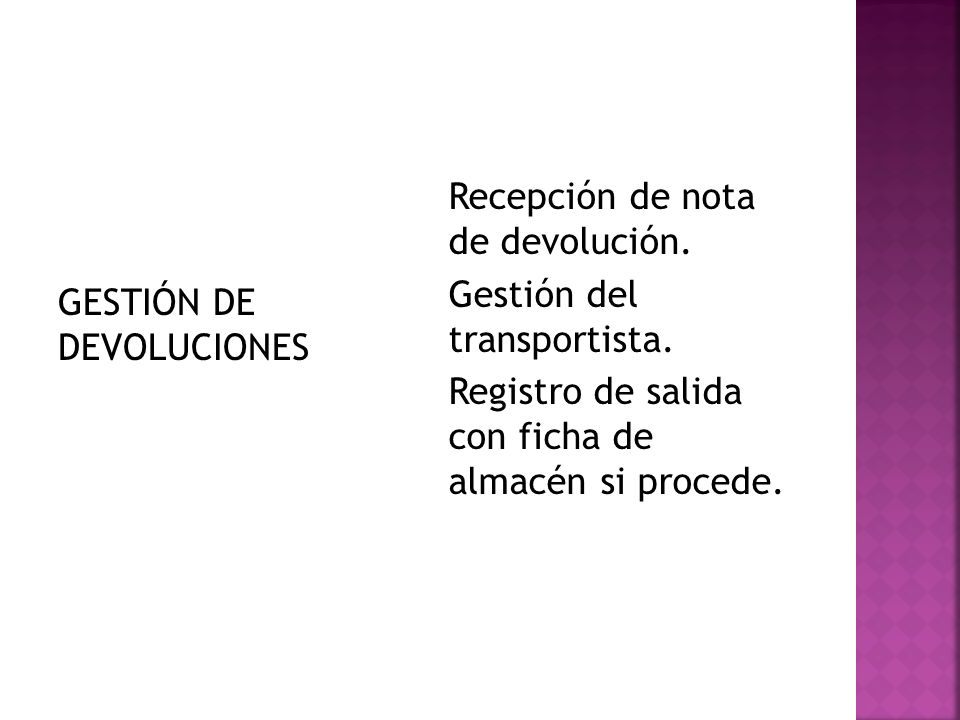 GESTIÓN DE DEVOLUCIONES