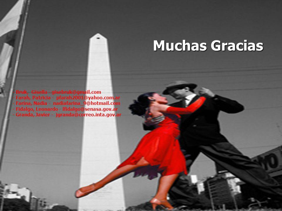 Muchas Gracias - Bruk, Gisella - gisebruk@gmail.com