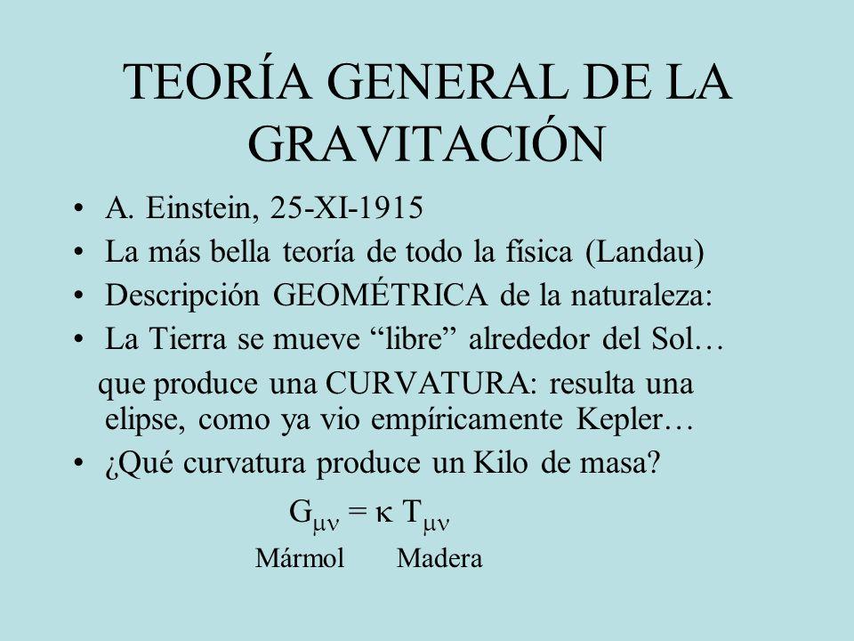 TEORÍA GENERAL DE LA GRAVITACIÓN