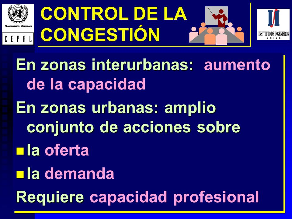 CONTROL DE LA CONGESTIÓN