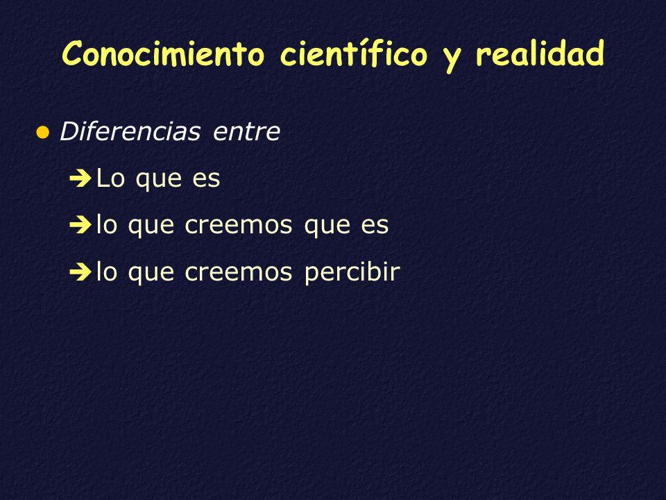 Conocimiento científico y realidad