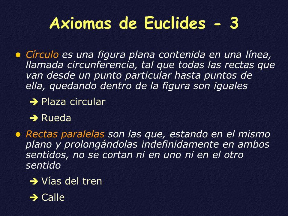Axiomas de Euclides - 3