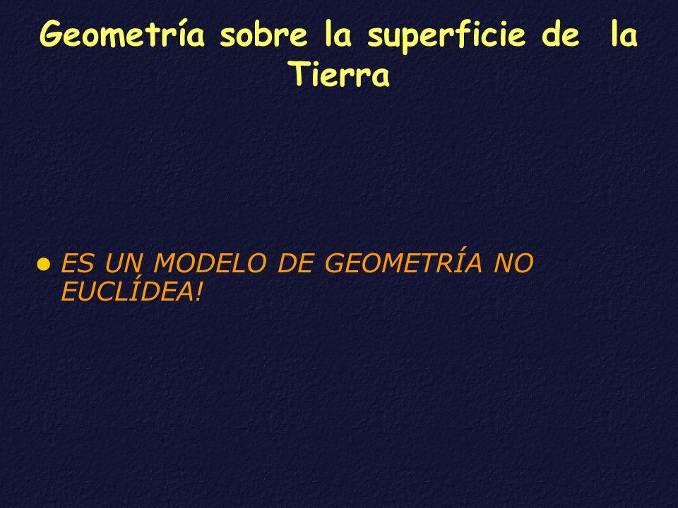 Geometría sobre la superficie de la Tierra