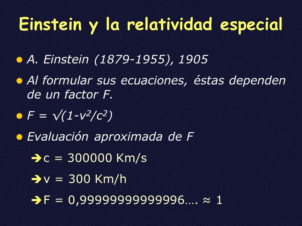 Einstein y la relatividad especial