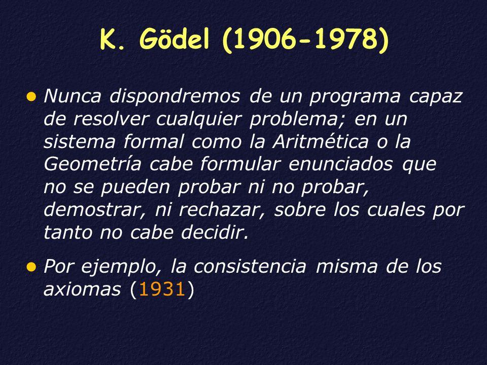 K. Gödel (1906-1978)