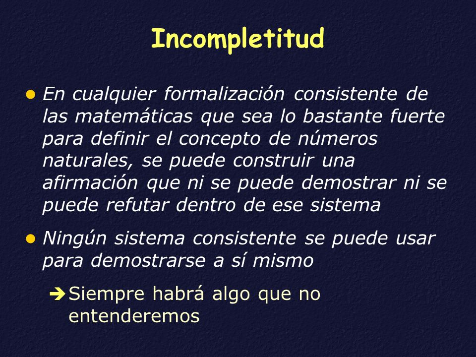 Incompletitud