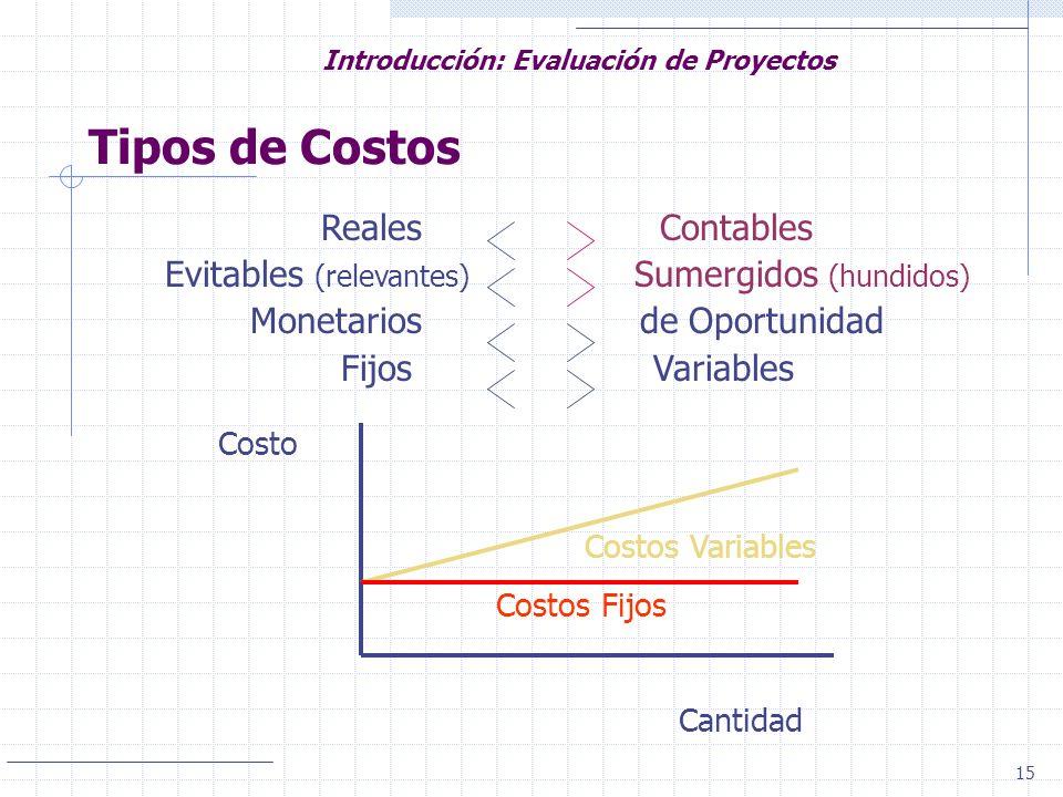 Tipos de Costos Reales Contables