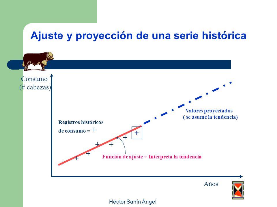 Ajuste y proyección de una serie histórica