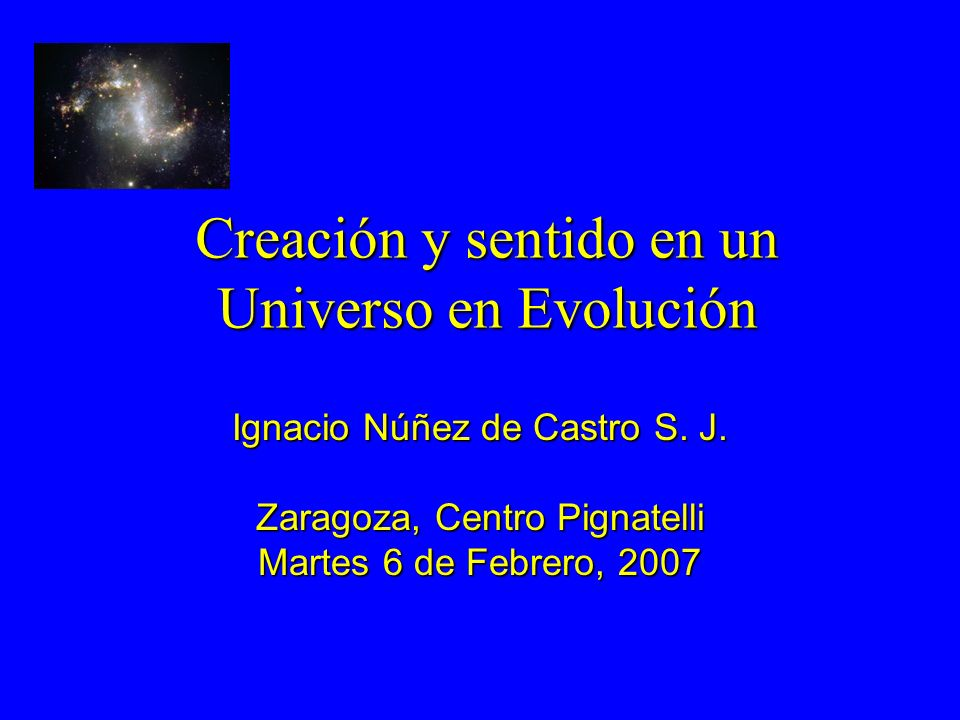Creación y sentido en un Universo en Evolución