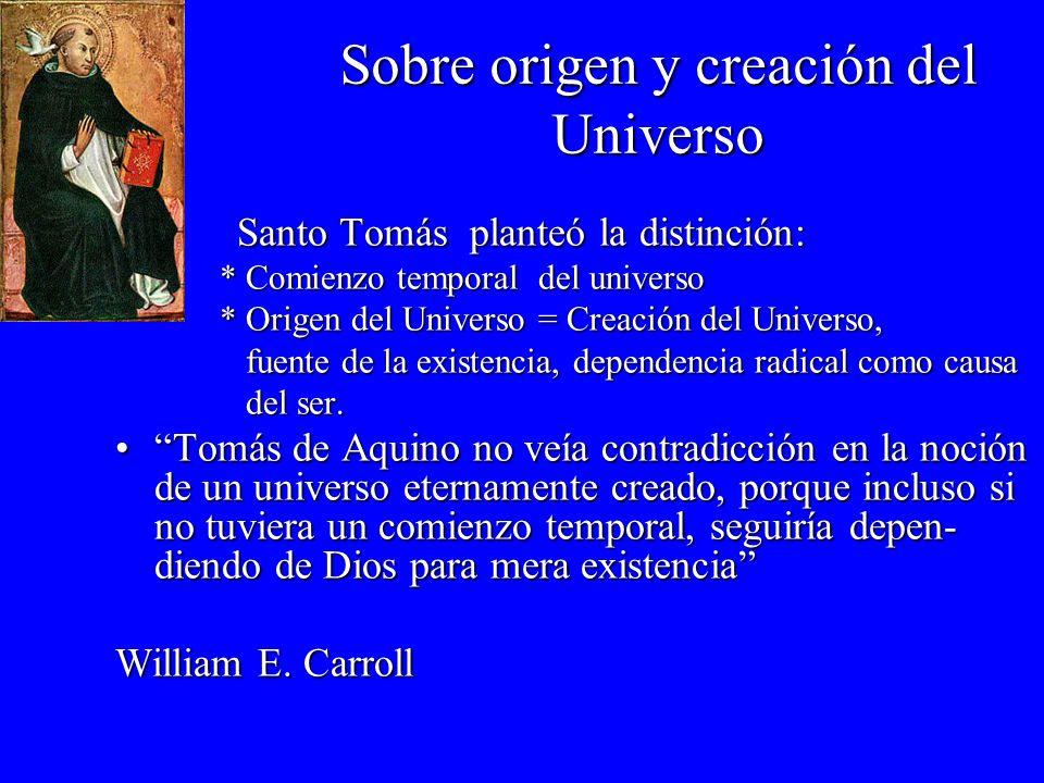 Sobre origen y creación del Universo