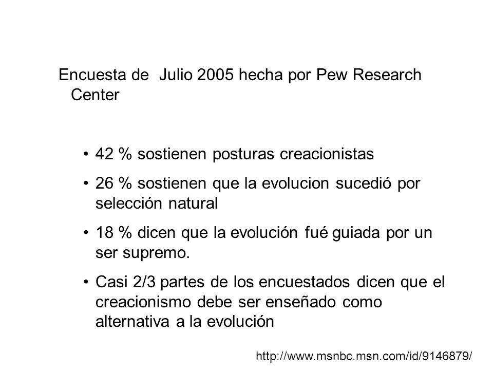 Encuesta de Julio 2005 hecha por Pew Research Center