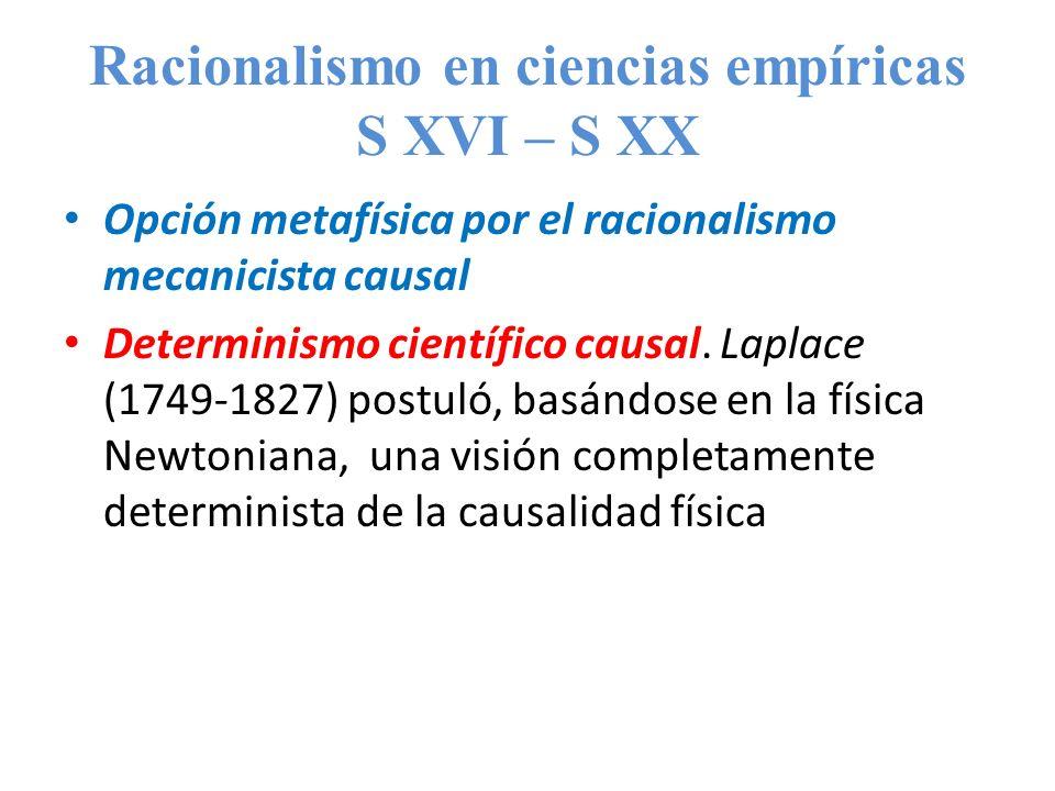 Racionalismo en ciencias empíricas S XVI – S XX