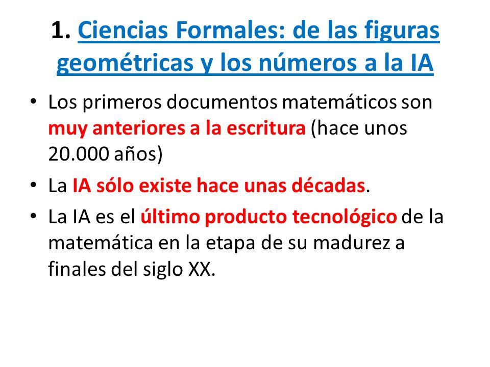1. Ciencias Formales: de las figuras geométricas y los números a la IA