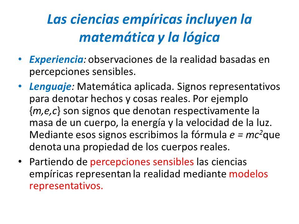 Las ciencias empíricas incluyen la matemática y la lógica