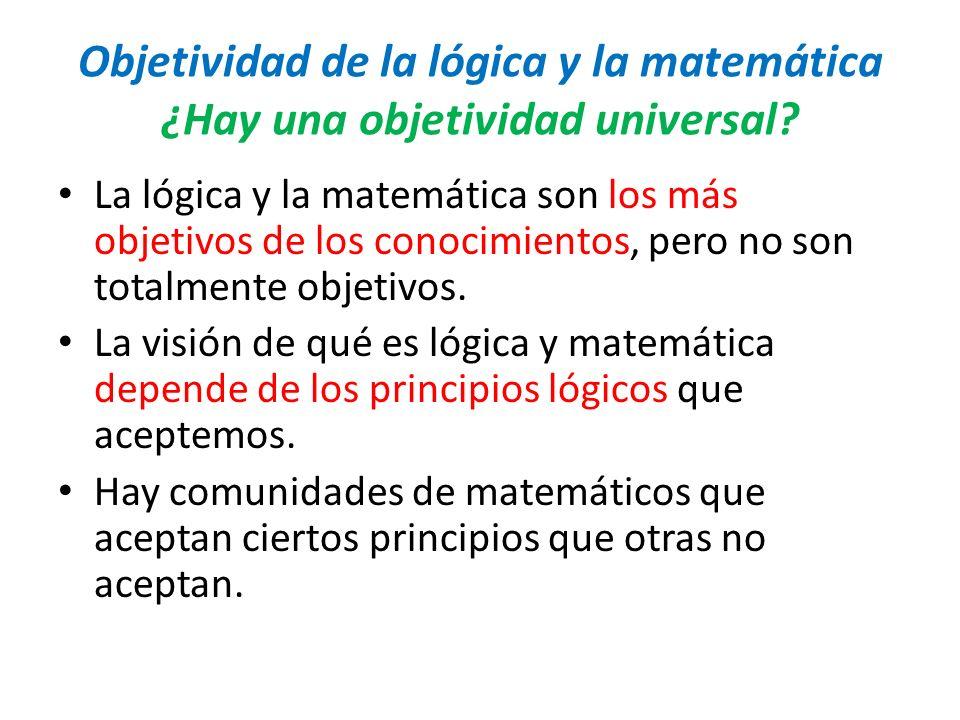 Objetividad de la lógica y la matemática ¿Hay una objetividad universal
