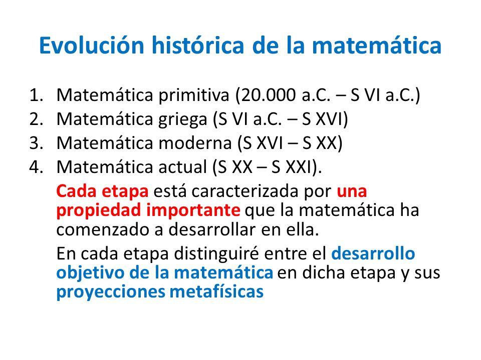 Evolución histórica de la matemática