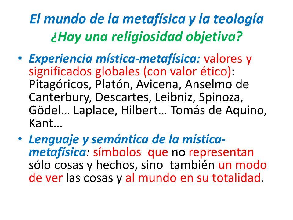 El mundo de la metafísica y la teología ¿Hay una religiosidad objetiva