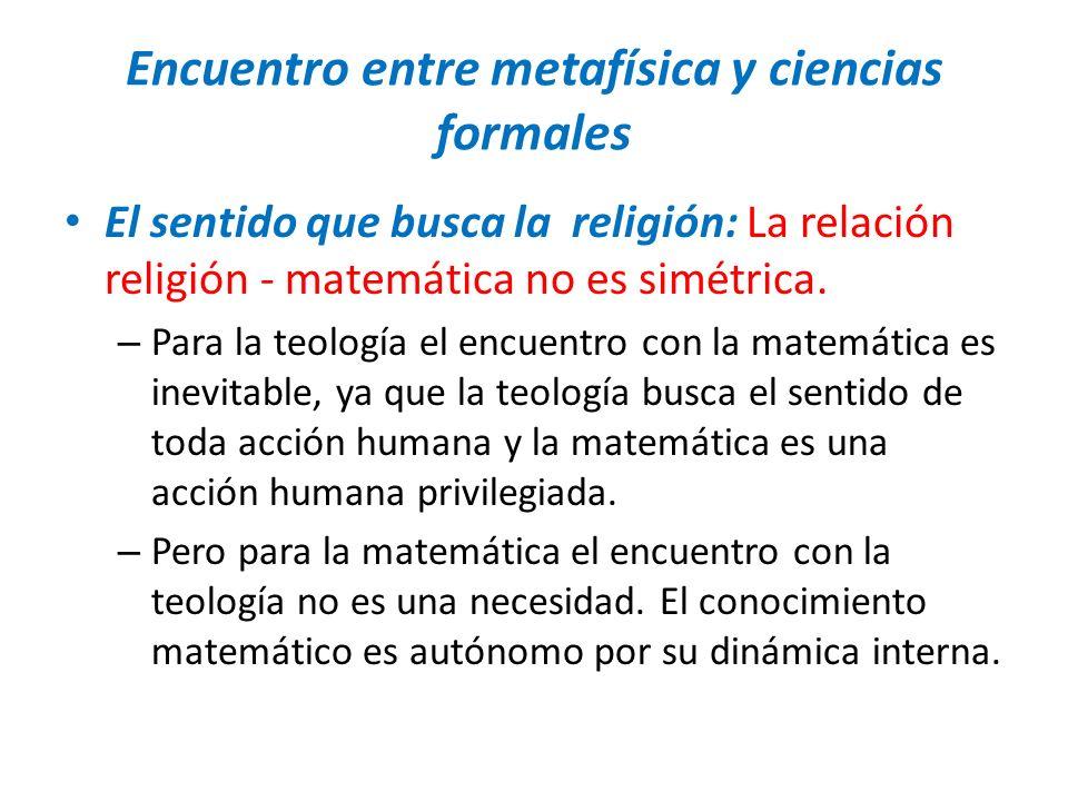 Encuentro entre metafísica y ciencias formales