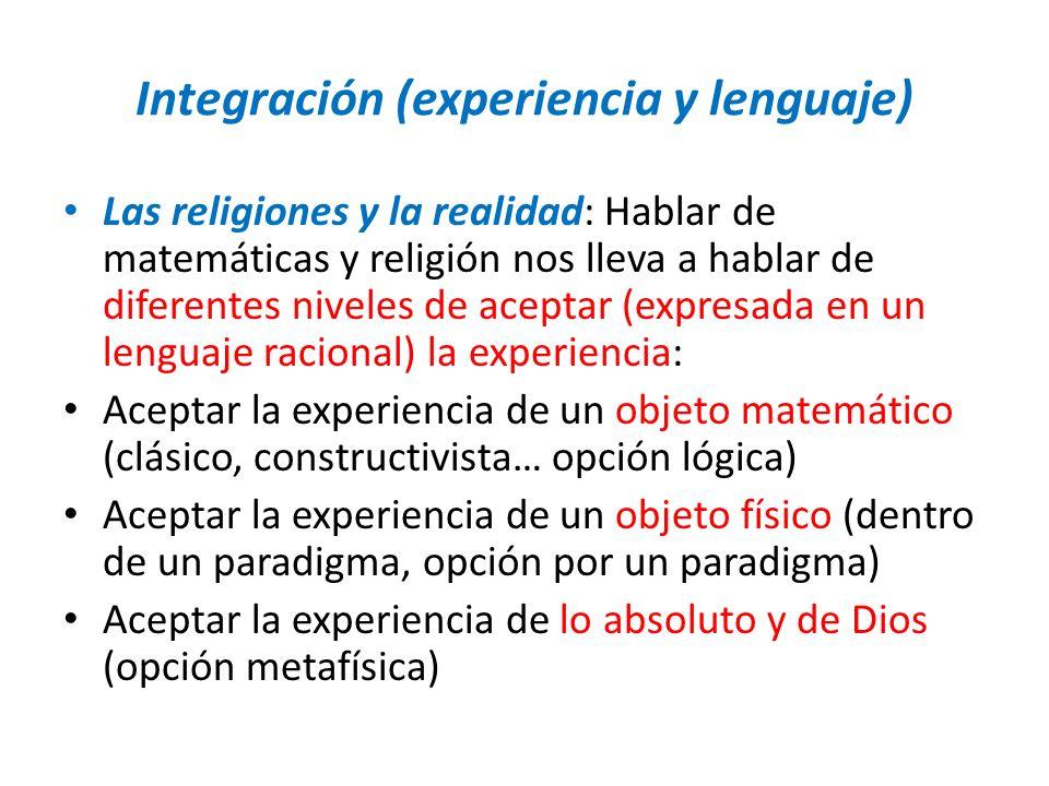 Integración (experiencia y lenguaje)