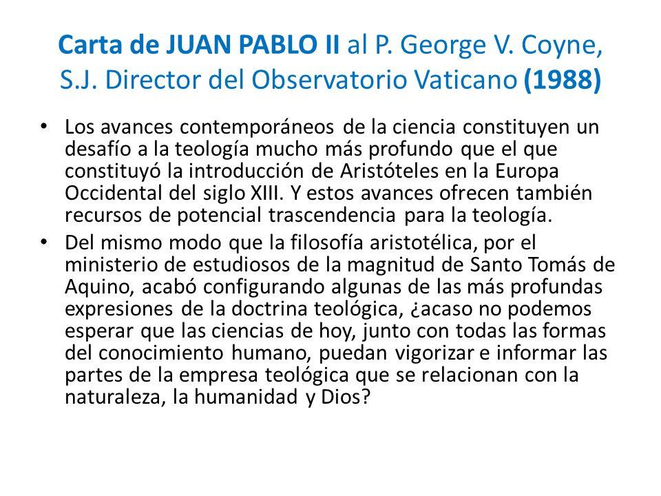 Carta de JUAN PABLO II al P. George V. Coyne, S. J