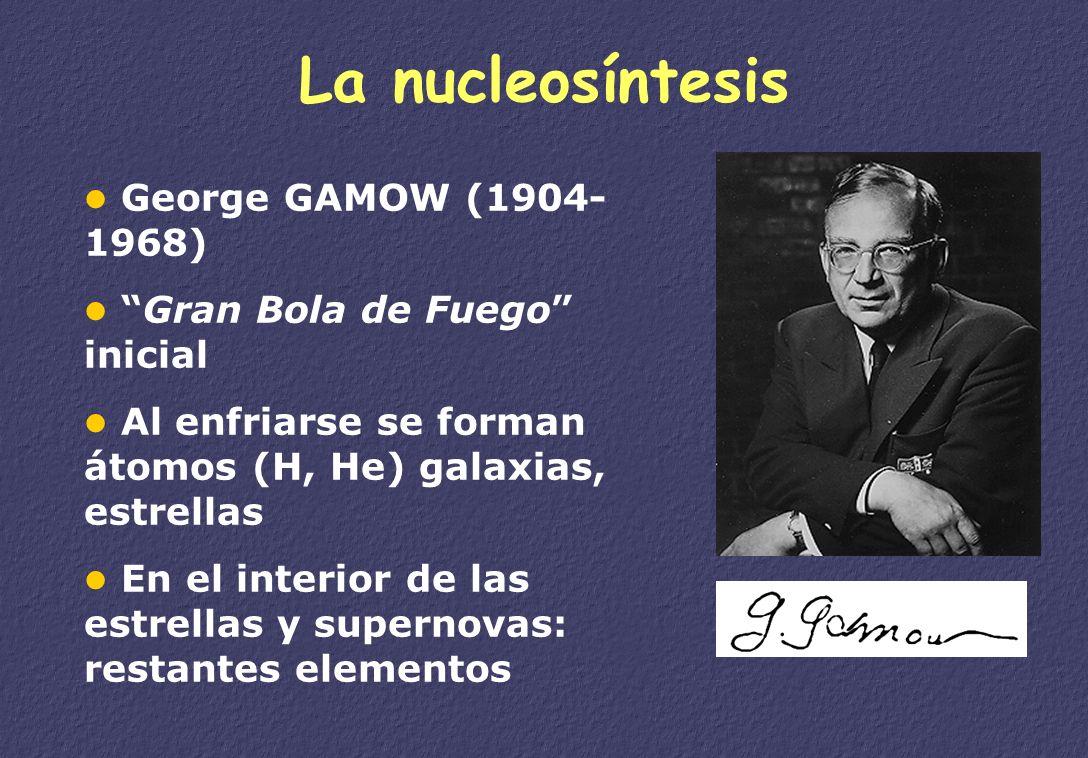 La nucleosíntesis George GAMOW (1904-1968)