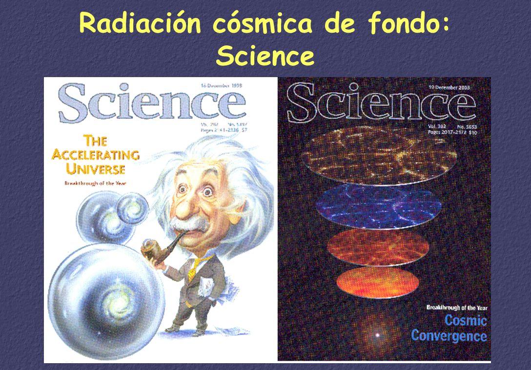 Radiación cósmica de fondo: Science