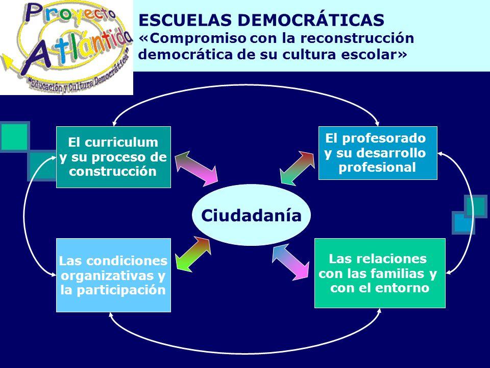 ESCUELAS DEMOCRÁTICAS «Compromiso con la reconstrucción democrática de su cultura escolar»