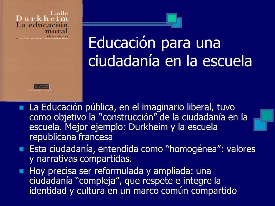 Educación para una ciudadanía en la escuela