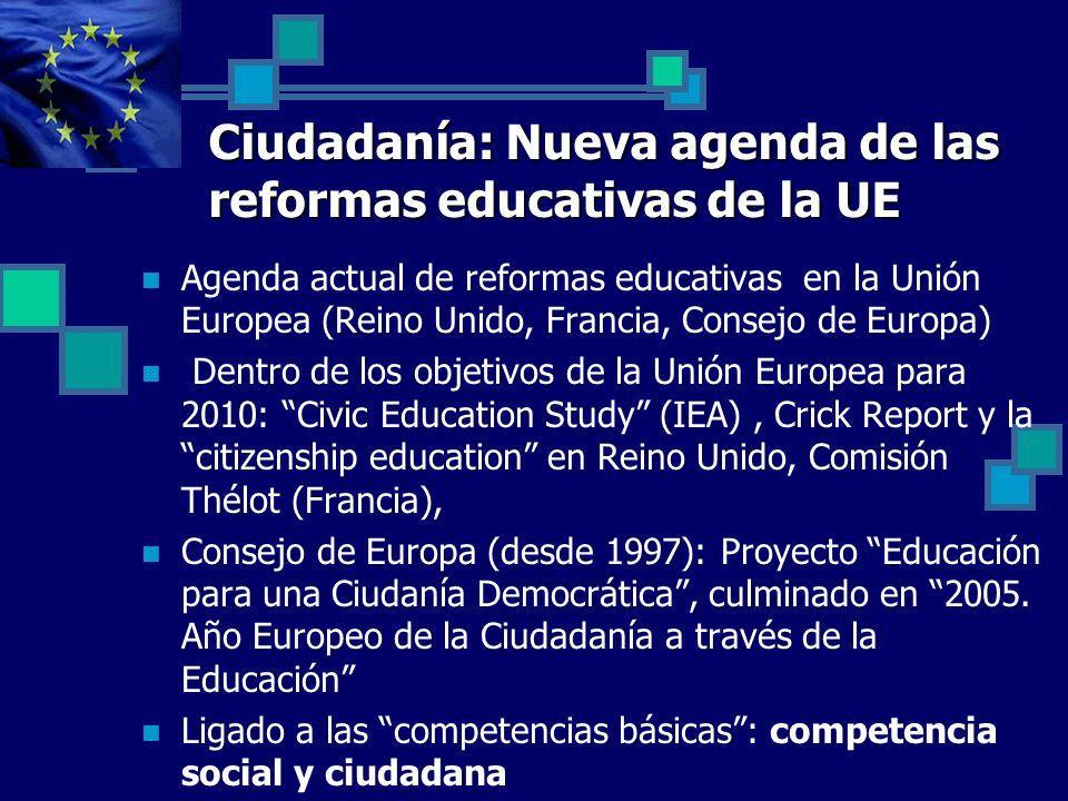 Ciudadanía: Nueva agenda de las reformas educativas de la UE