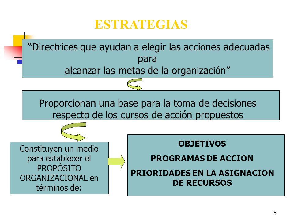 PRIORIDADES EN LA ASIGNACION DE RECURSOS