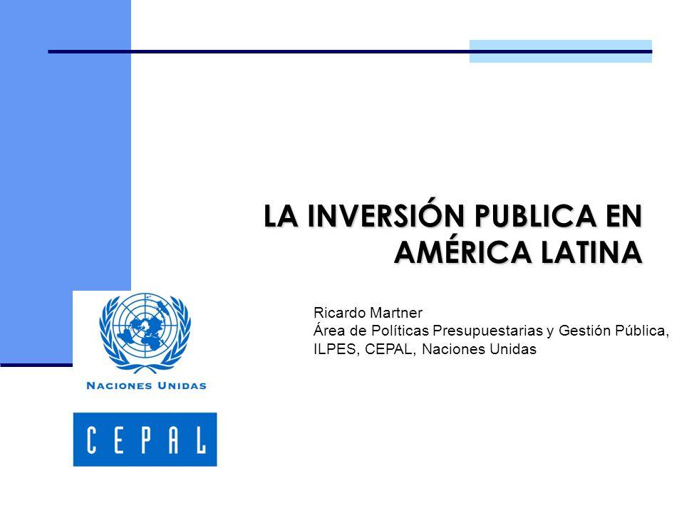 LA INVERSIÓN PUBLICA EN AMÉRICA LATINA