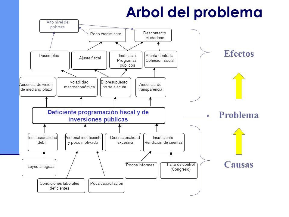 Deficiente programación fiscal y de inversiones públicas