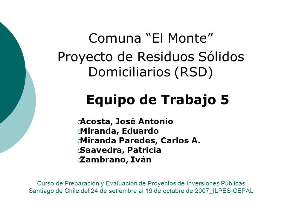 Proyecto de Residuos Sólidos Domiciliarios (RSD)
