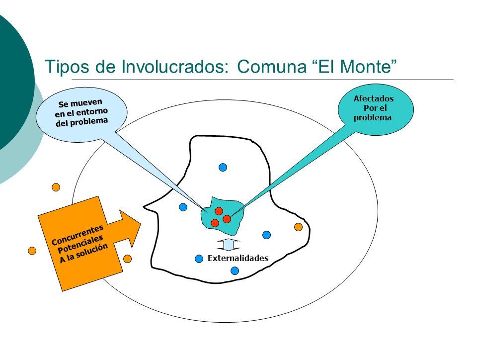 Tipos de Involucrados: Comuna El Monte