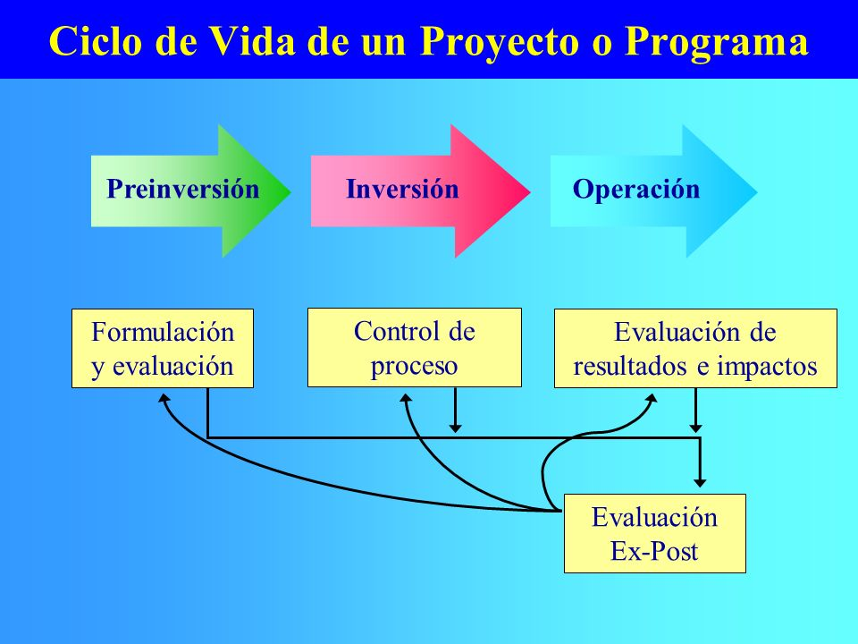 Ciclo de Vida de un Proyecto o Programa
