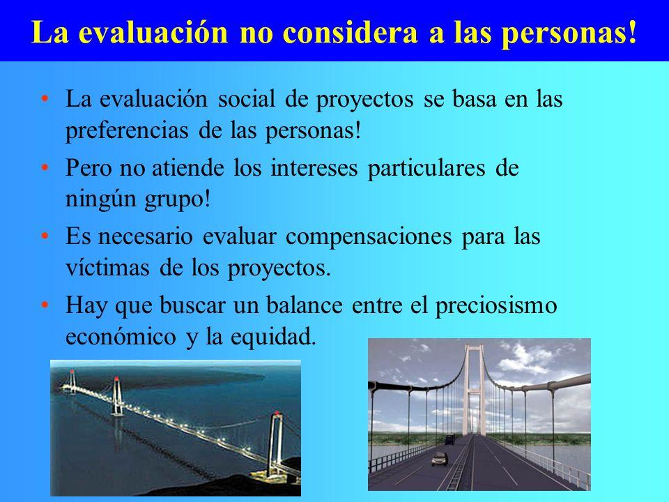 La evaluación no considera a las personas!