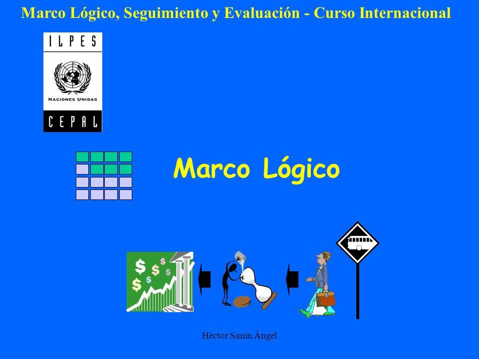 Marco Lógico, Seguimiento y Evaluación - Curso Internacional