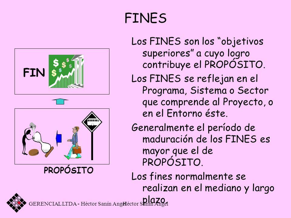 FINESLos FINES son los objetivos superiores a cuyo logro contribuye el PROPÓSITO.