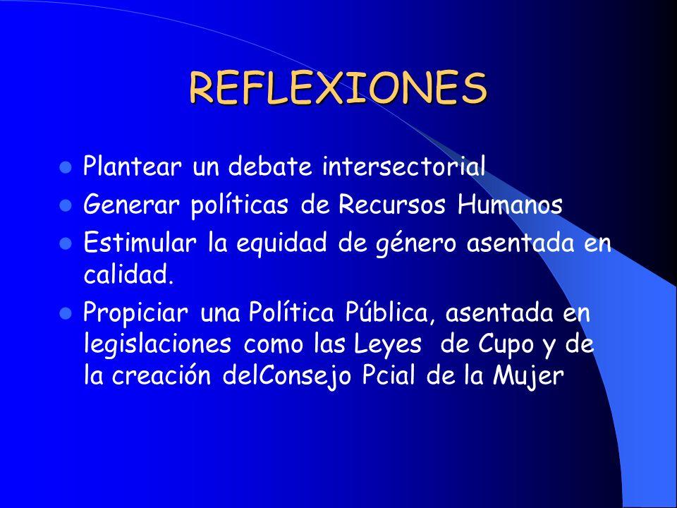 REFLEXIONES Plantear un debate intersectorial