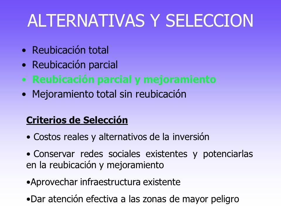 ALTERNATIVAS Y SELECCION