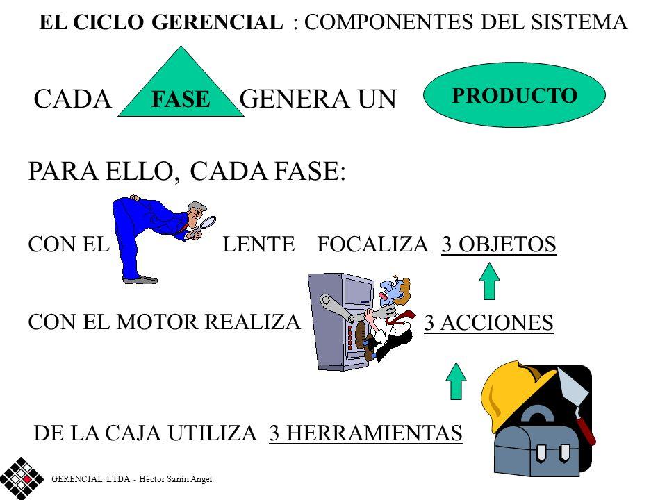 EL CICLO GERENCIAL : COMPONENTES DEL SISTEMA