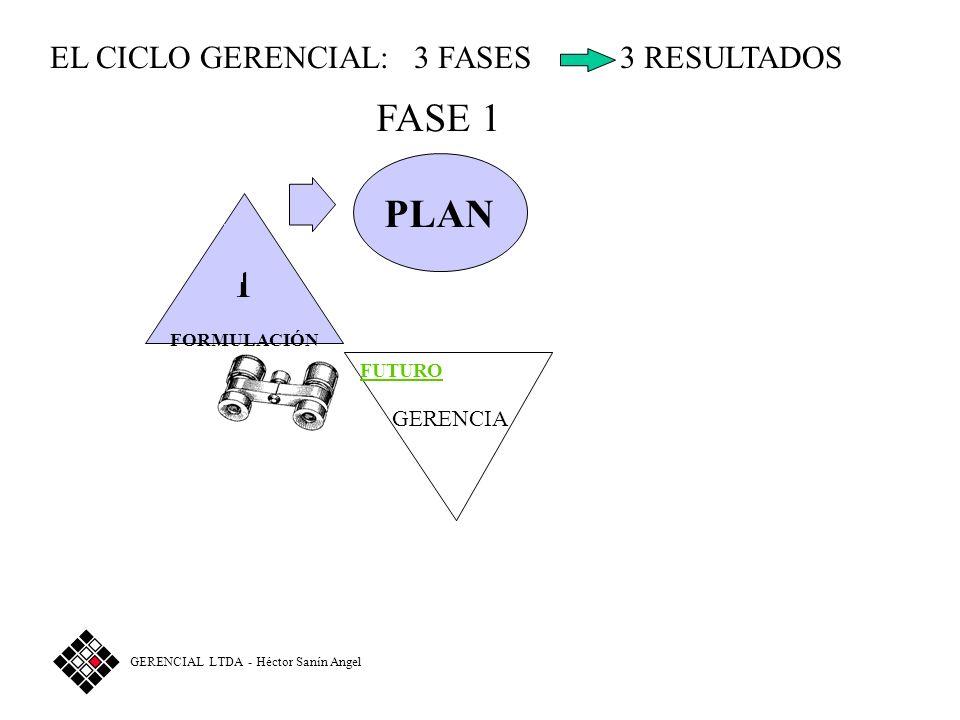 FASE 1 PLAN 1 EL CICLO GERENCIAL: 3 FASES 3 RESULTADOS GERENCIA FUTURO