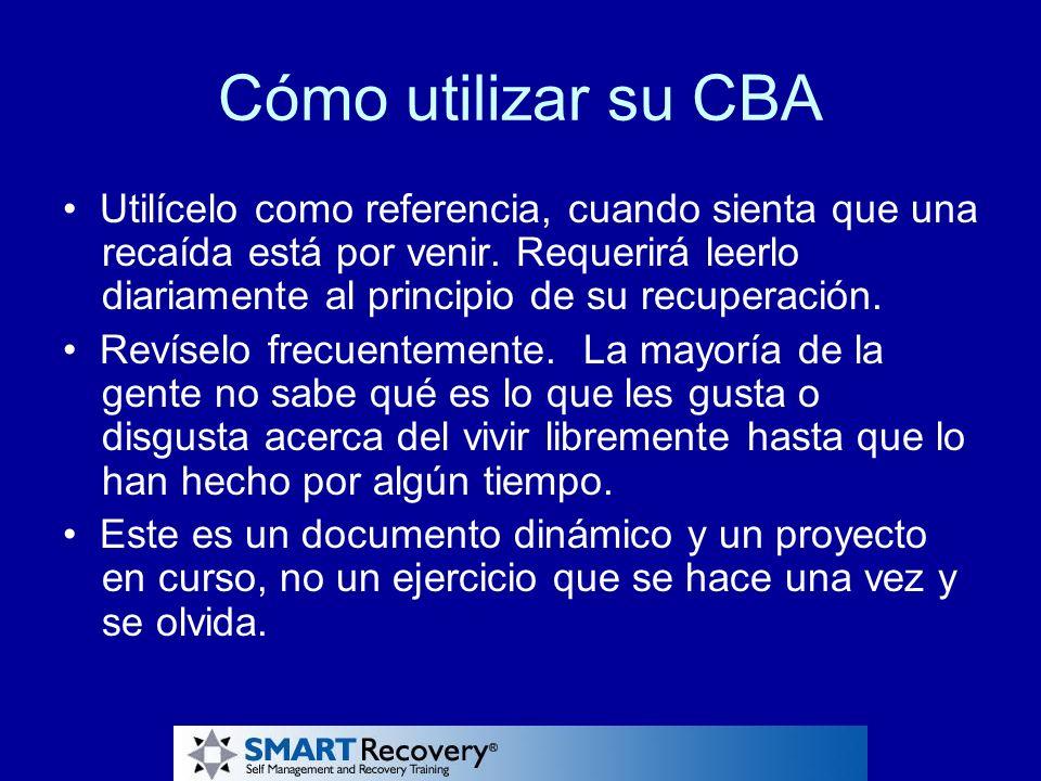 Cómo utilizar su CBA