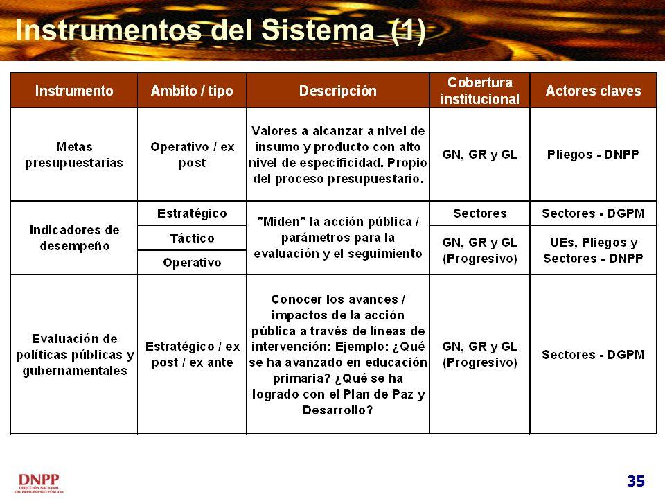 Instrumentos del Sistema (1)