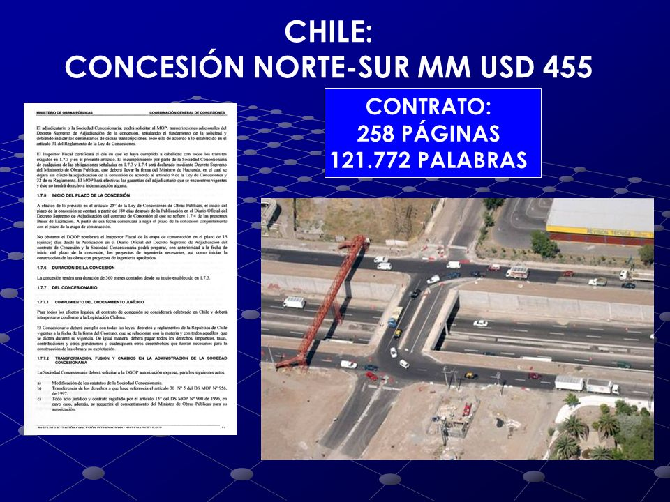 CONCESIÓN NORTE-SUR MM USD 455