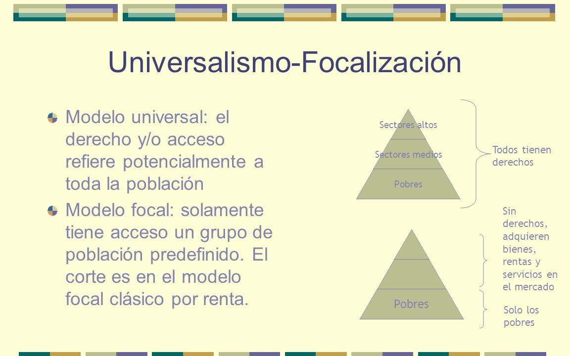 Universalismo-Focalización