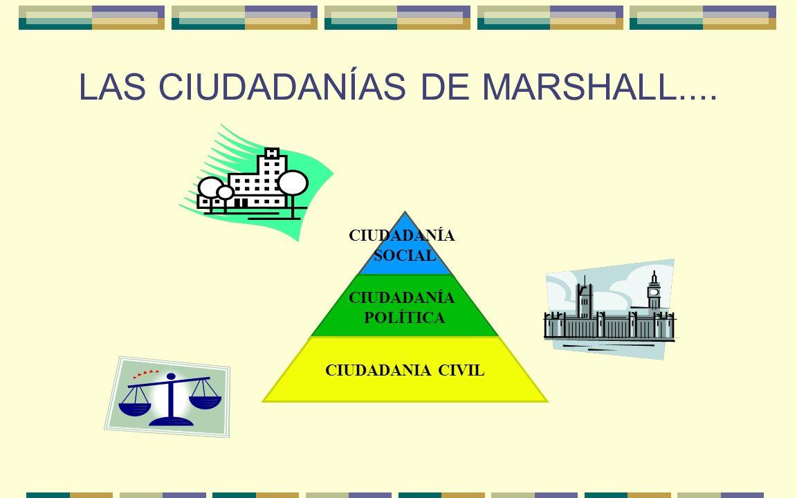 LAS CIUDADANÍAS DE MARSHALL....