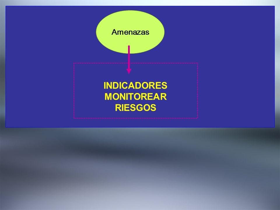 2. DEFINIR EL QUE Amenazas INDICADORES MONITOREAR RIESGOS