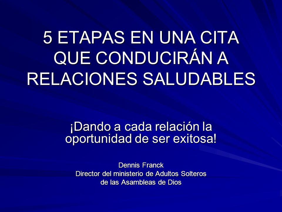 5 ETAPAS EN UNA CITA QUE CONDUCIRÁN A RELACIONES SALUDABLES