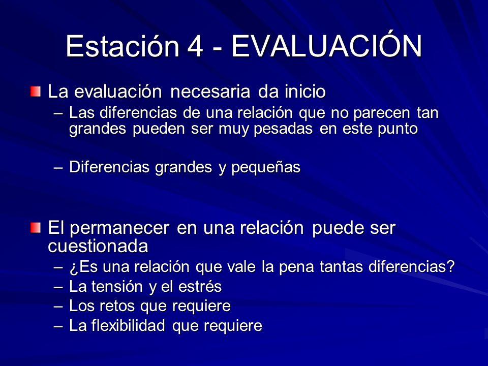 Estación 4 - EVALUACIÓN La evaluación necesaria da inicio